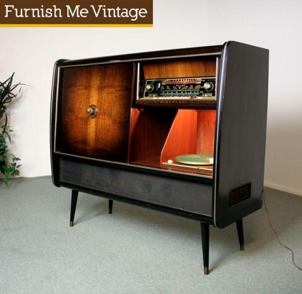 retro blaupunkt arkansas 55 stereo console with bar