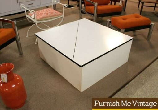 Retro Large Coffee Table with Storage or Toy Box