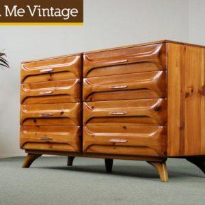 1950s Franklin Shockey Sculptured Pine Dresser