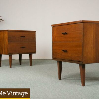 2 Vintage Harmony House Bowtie Nightstands Sale