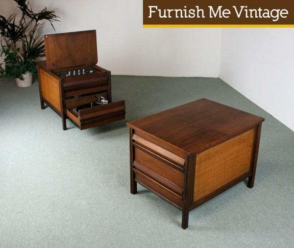 Vintage GE Record Player Stereo In End Tables