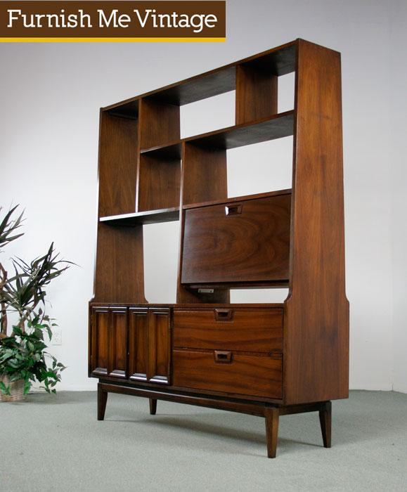 Mid Century Modern Sutton Home Room Divider Bookcase