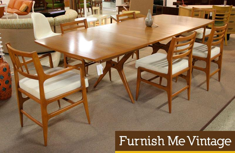 Pleasant Complete Mid Century Modern Teak Dining Set By Rway Bralicious Painted Fabric Chair Ideas Braliciousco