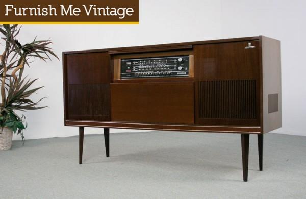 Retro 1960s Grundig Stereo Console