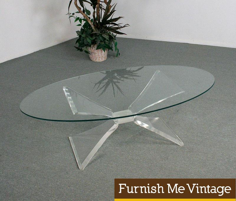 63107854ff06 Mid Century Modern Lucite Butterfly Coffee Table