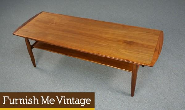 Mid Century Modern Refinshed Hekman Teak Coffee Table Sale
