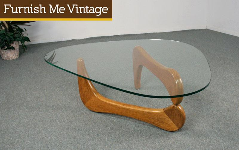 Vintage Solid Wood Noguchi Style Coffee Table