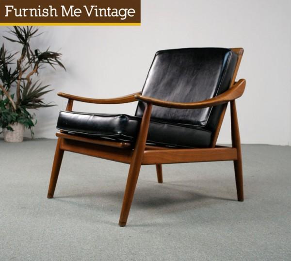 Mid Century Modern Danish Teak Reclining Lounge Chair