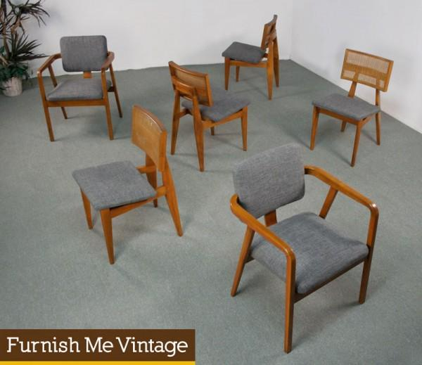 6 George Nelson For Herman Miller Vintage Dining Chairs