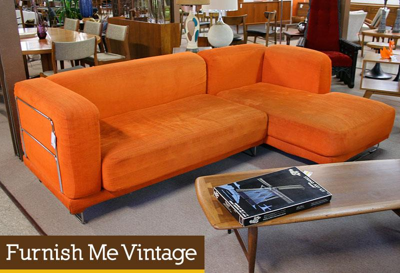 Magnificent Contemporary Used Orange Sofa Sectional Cjindustries Chair Design For Home Cjindustriesco