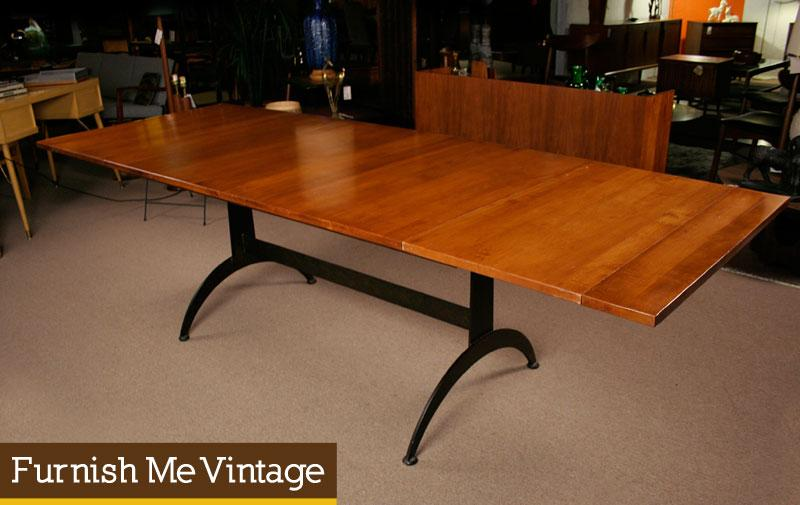 Long Modern Cherry Dining Table