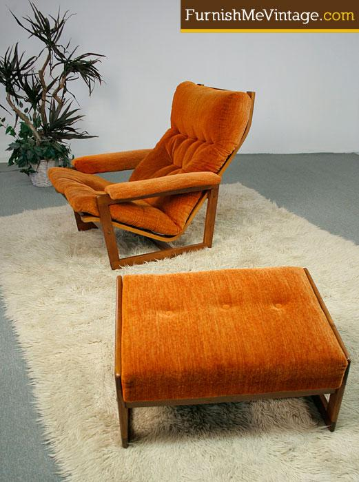 Super Vintage Danish Teak Lounge Chair With Ottoman Pabps2019 Chair Design Images Pabps2019Com