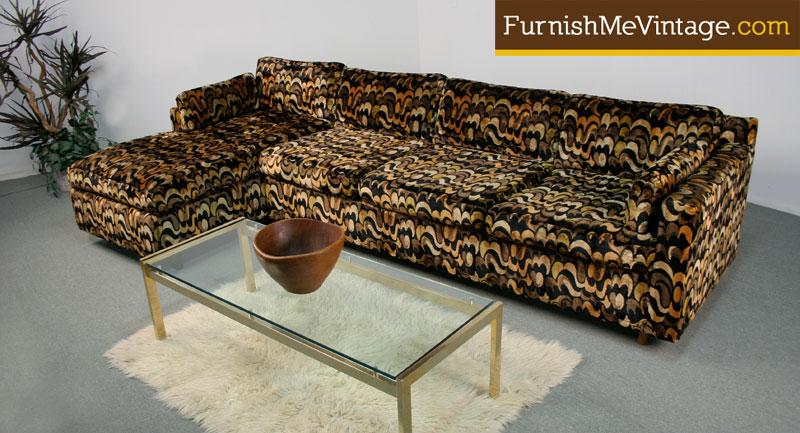 Magnificent Retro 1970S Velvet Sectional Sofa Creativecarmelina Interior Chair Design Creativecarmelinacom