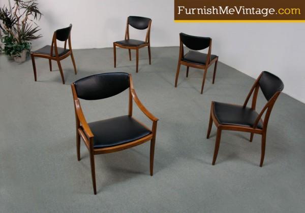Surprising 5 Mid Century Modern Drexel Dining Chairs Dailytribune Chair Design For Home Dailytribuneorg