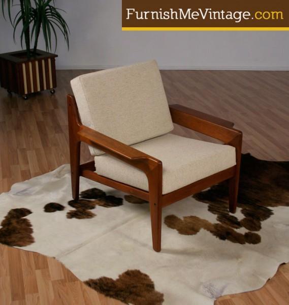 Mid Century Modern Komfort Danish Teak Chair