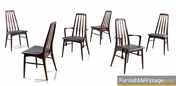 6 Koefoeds Hornslet Eva Rosewood Dining Chairs