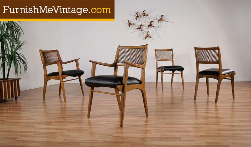 Awesome 4 Mid Century Modern Drexel Profile Dining Chairs Dailytribune Chair Design For Home Dailytribuneorg