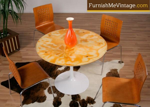 Custom Resin Top Retro Tulip Table Furnish Me Vintage - Custom tulip table