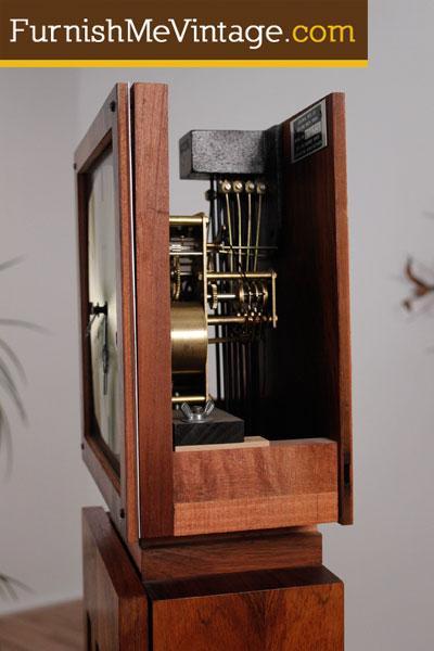 Vintage Modernist Grandfather Clock