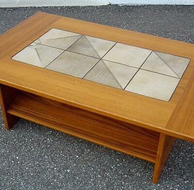 Gangs?? M??bler Teak Wood Tile Inlay Coffee Table