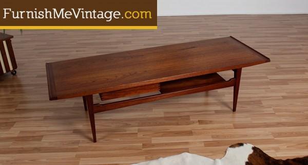Vintage Moreddi Danish Teak Coffee Table Amazing Design