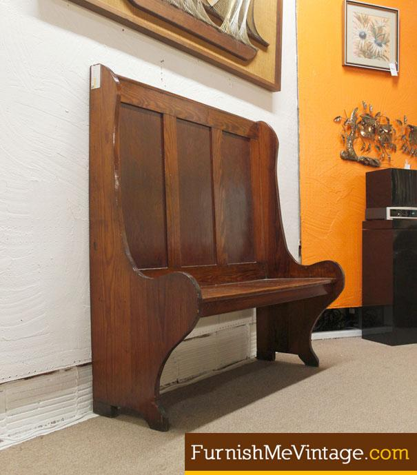 Vintage Solid Wood Church Pew