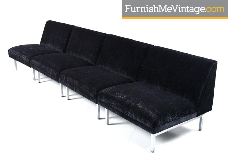 Three Piece George Nelson For Herman Miller Sectional Sofa