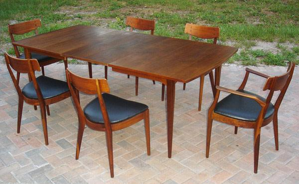 Enjoyable Mid Century Modern Drexel Declaration Dining Set Bralicious Painted Fabric Chair Ideas Braliciousco
