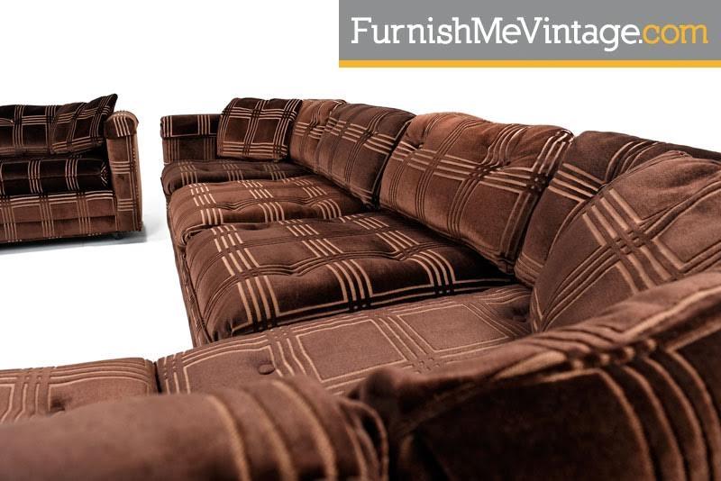 Bernhardt,flair Division Sofa,milo Baughman, Sectional Sofa,modern