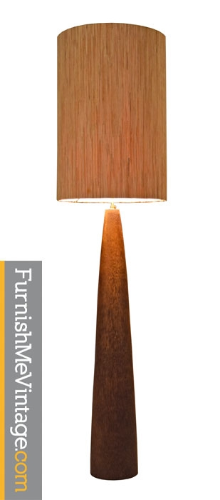 Chista Large Drum Floor-Standing Coconut Wood Lamp
