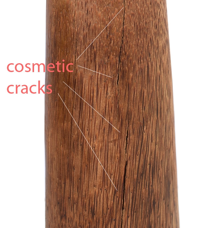 Chista Large Drum Floor Standing Coconut Wood Lamp