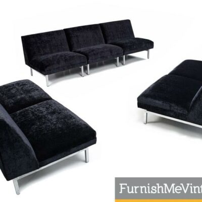 Seven-Piece George Nelson for Herman Miller Sectional Sofa Modular Seating Group