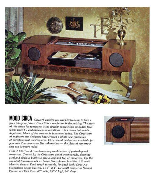 Mid Century Modern Electrohome 701B Circa 75 Stereo