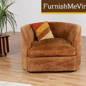 Vintage 1970s Velvet Tub Chair