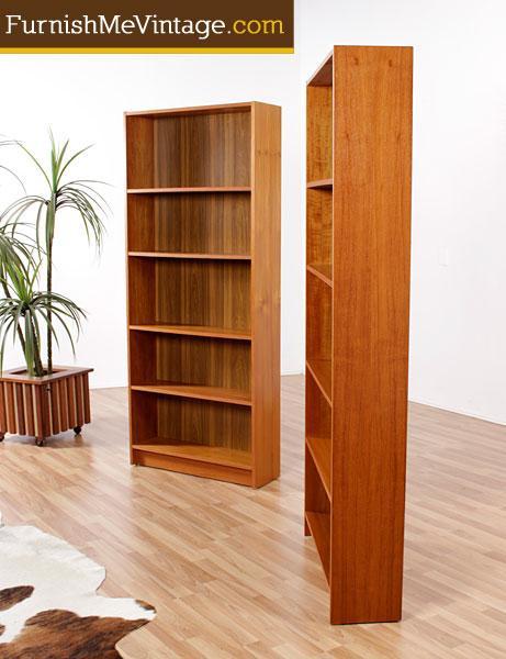 vintage danish modern teak bookcases - Teak Bookshelves