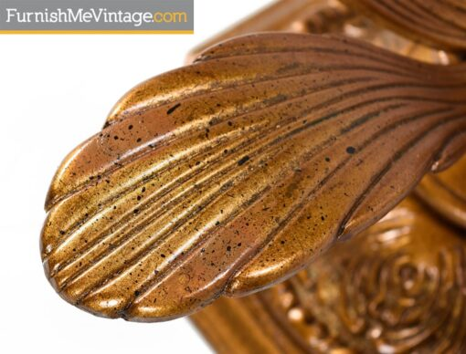 hollywood regency,Arthur Court,Gold,flower petal, coffee table