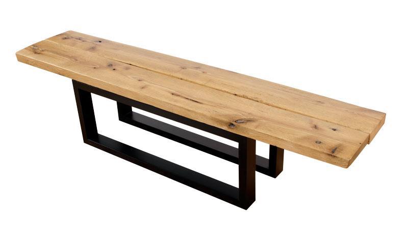Custom Made Reclaimed White Oak Bench