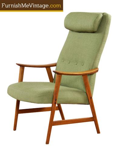 Restored Mid Century Modern Dokka Mobler Arm Chair