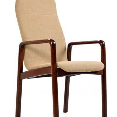Restored Vintage Dyrlund Danish Rosewood Arm Chair