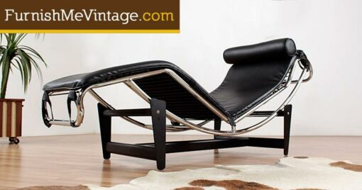 Reproduction Italian LC4 Leather Chaise Lounge