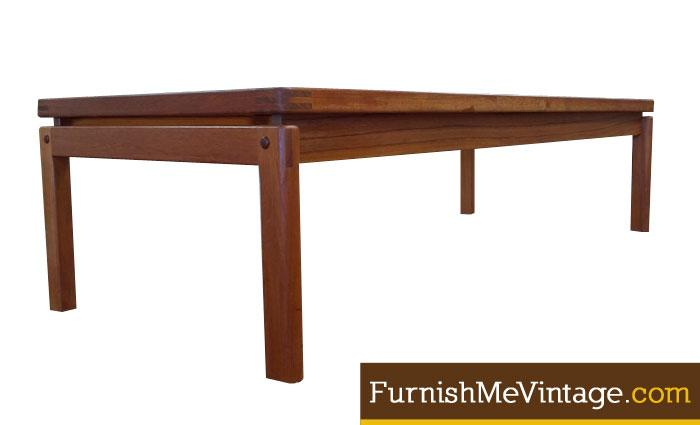Vintage Danish Teak Coffee Table With Inset Glass Awesome Ideas