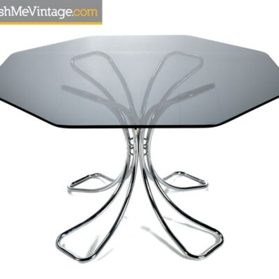 NOS Vintage Futura Chrome Dining Table