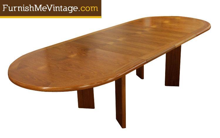 Long Narrow Teak Dining Table - Narrow teak table
