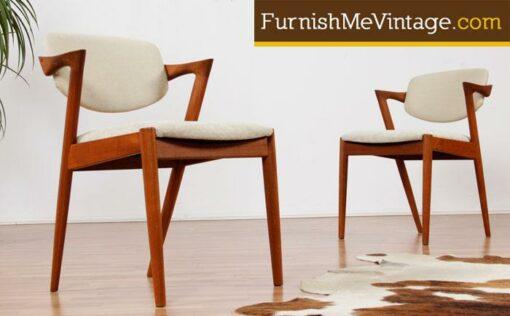 Set of (6) Vintage Kai Kristiansen #49 Danish Teak Dining Chairs