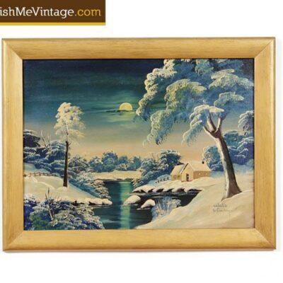 O.G. Lewis Gospel Artist 1951 Oil Landscape