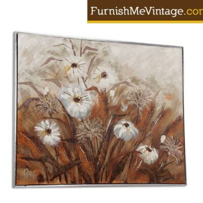 Large Mid Century Lee Reynolds Floral Oil Painting