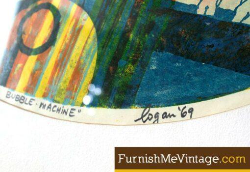 """""""Ralph's Bubble Machine"""" 1969 Original Serigraph"""