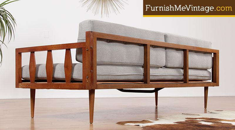 mid century daybed restored sculpted arm mid century modern daybed