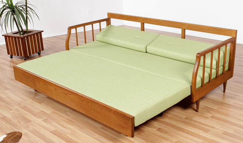 Mid Century Modern Sofa With Trundle Bed