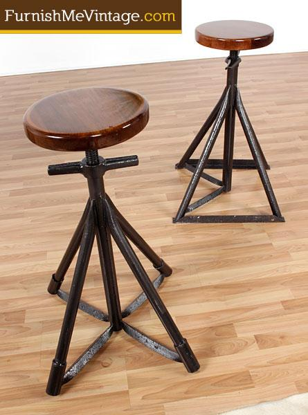 Set Of 2 Custom Made Nautical Bar Stools
